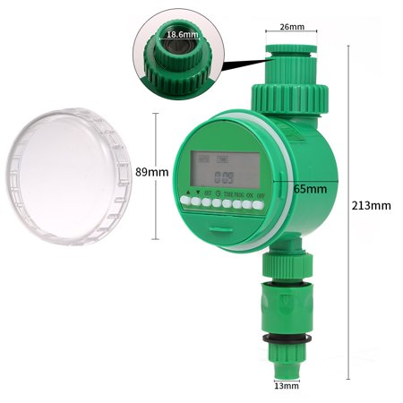 "Outlet Programmable Hose Faucet Timer 3/4"" 1/2"" Tap Automatic Wirless Water Gateway Garden Irrigation Watering Timer Battery Operated - image 1 de 6"