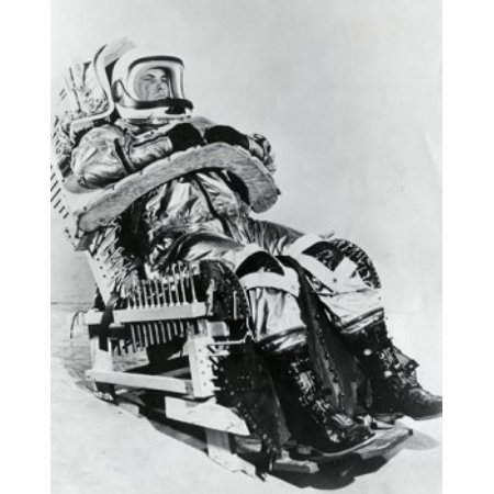 Astronaut wearing an MC-2 Full Pressure space suit and sitting on a chair Prototype Chair for X-15 Test Flight Stretched Canvas -  (18 x (Choir Suit)