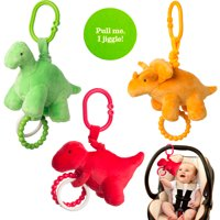 Manhattan Toy Company (Set Of 3) Newborn Baby Toys Plush Jiggle Hanging Toys For Babies Teething