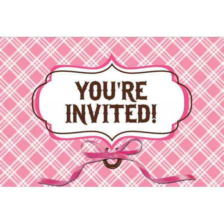 Horse Party Invitations (Creative Converting Heart My Horse Invitation Gatefold, 8)