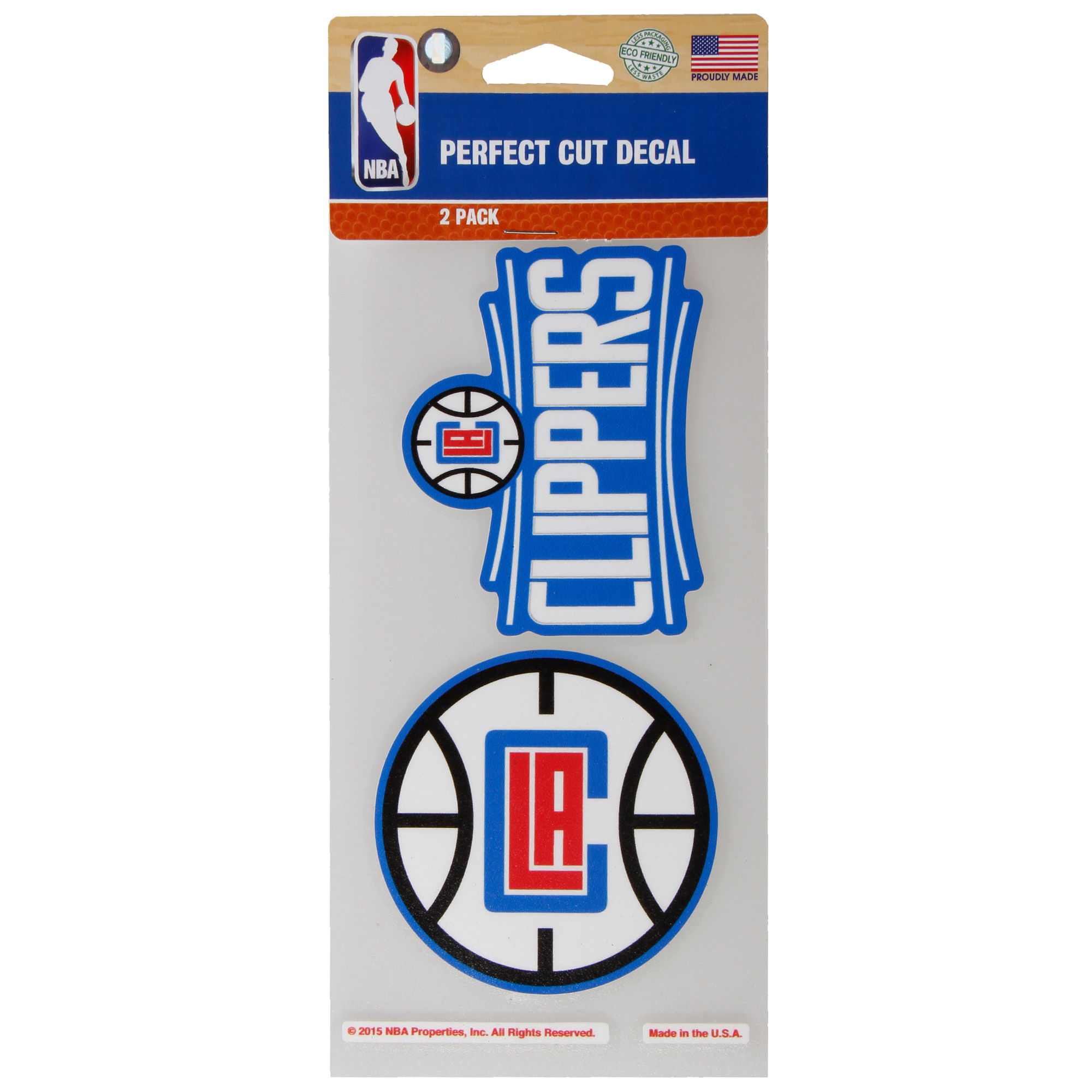 """LA Clippers WinCraft 2-Pack 4"""" x 4"""" Decals - No Size"""