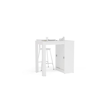 Compact Tablet (Polifurniture Modena Compact Table with Storage, White )