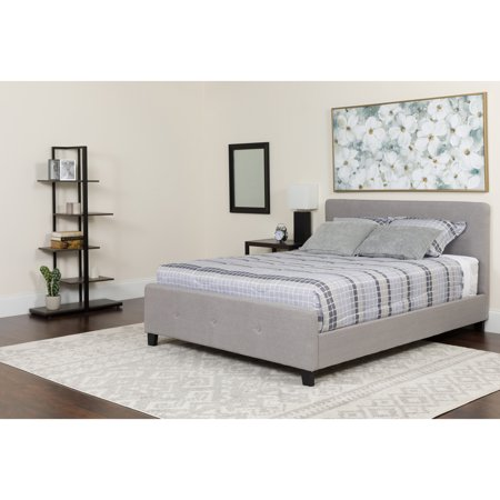 - Flash Furniture Tribeca Tufted Upholstered Platform Bed, Multiple Colors, Multiple Sizes