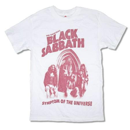 Black Sabbath Original Symptom Of The Universe White T