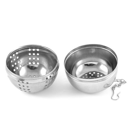 Cuisine maison crépine à billes en acier inoxydable infuseur à thé épices feuille 55mm Dia - image 2 de 3