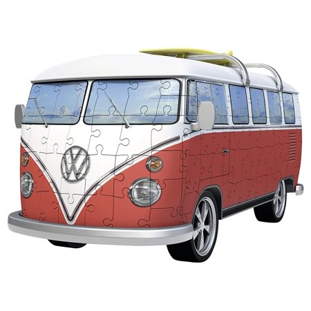 Volkswagen T1 Campervan 162 Piece 3D Jigsaw Puzzle for Kids and Adults - Easy Click Technology Means Pieces Fit Together Perfectly Ravensburger