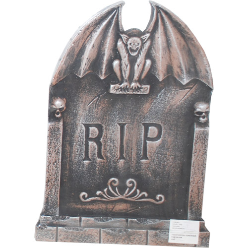 Light-Up Halloween  Tombstone, Gargoyle with Wings