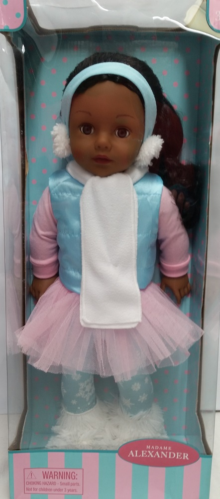 "Madame Alexander Winter Snow Bunny 18"" Doll African American by Madame Alexander"