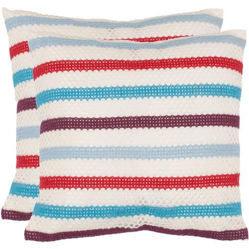 Safavieh Bleeker Striped Pillow, Set of 2
