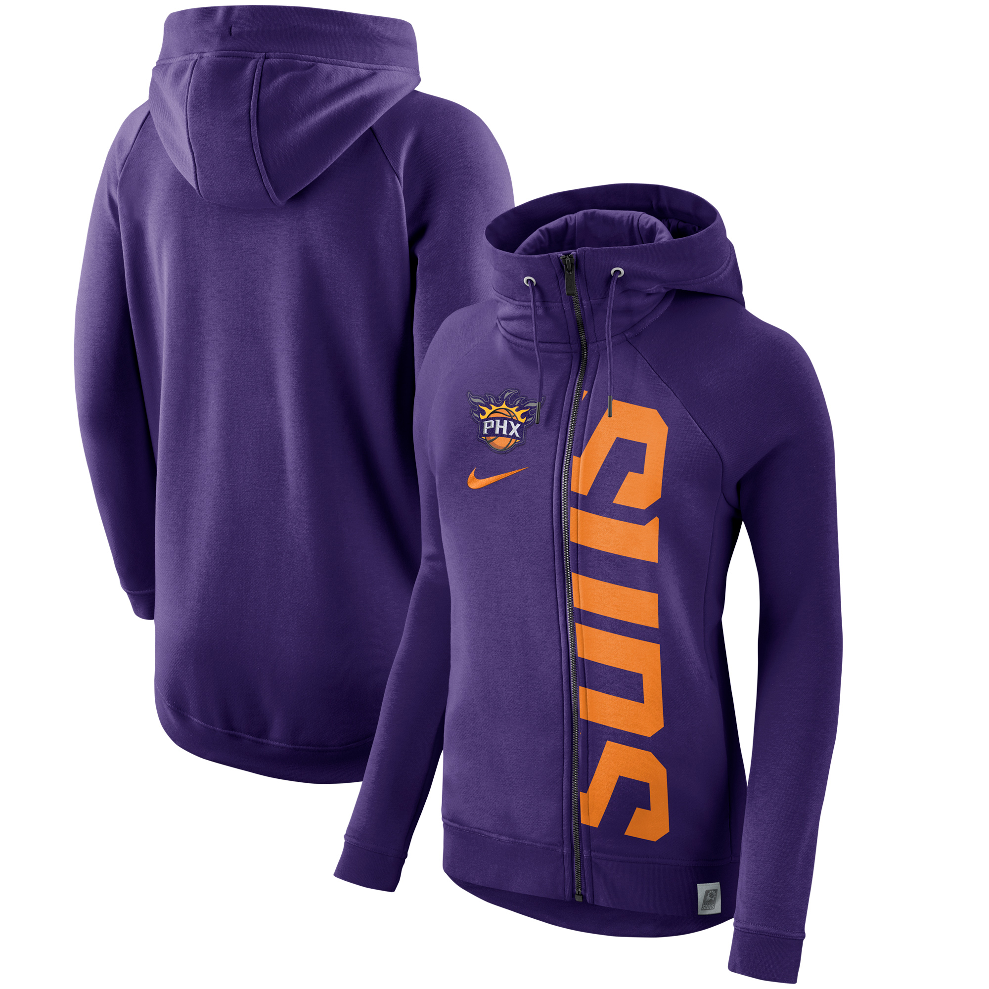 Phoenix Suns Nike Women's French Terry Modern Cape Full-Zip Hoodie - Purple