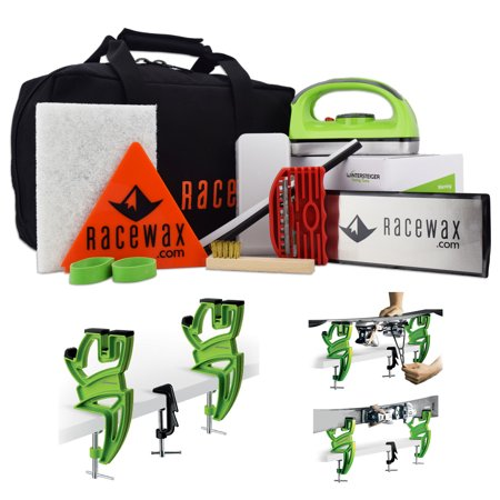 RaceWax EZ-Tune Ski Wax Tuning Kit plus Ski Vise
