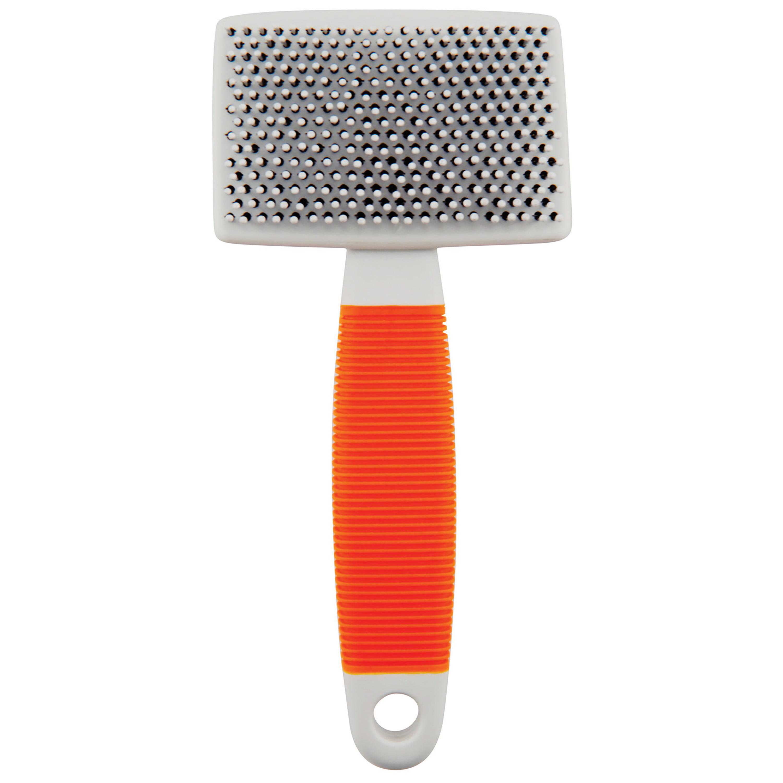 Wahl Cat Slicker Brush, Orange/White - 858418
