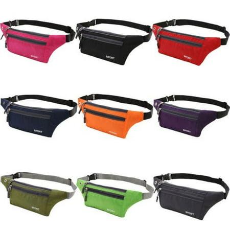 Running Sport Bum Bag Fanny Pack Waist Phone Money Belt Zip Hiking Pouch Wallet (Best 27 Monitor For The Money)