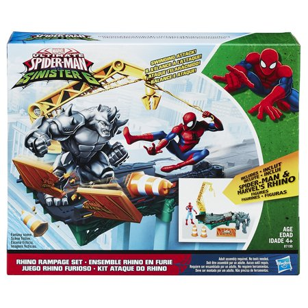 494a779bc7f92 Marvel Spider-Man Rhino Rampage Play Set - Walmart.com