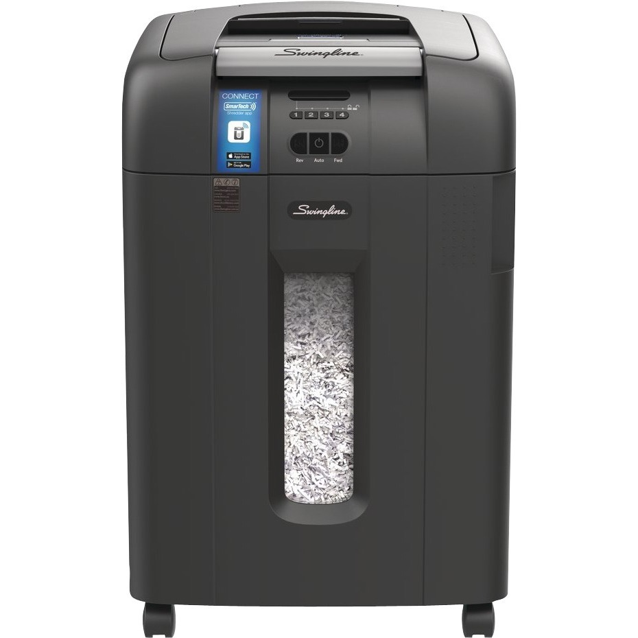 Swingline, SWI1757577, Stack-and-Shred 600X Auto Feed Shredder SmarTech Enabled, 1 Each