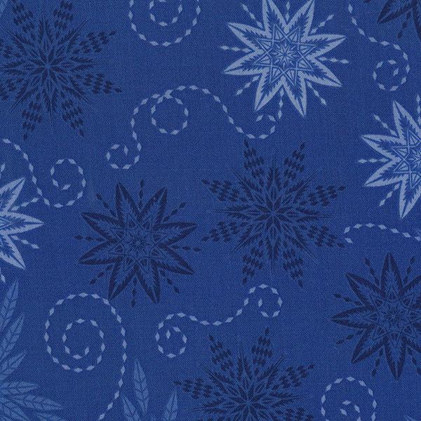 Timeless Treasures Bohemian Blues Judy Niemeyer Royal Snowflakes