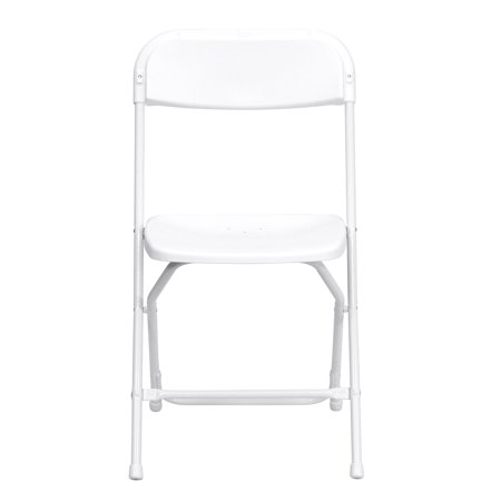Flash Furniture (10-Pack) HERCULES Series Premium Plastic Folding Chair, White](Diy Folding Chair)