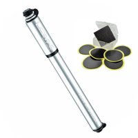 Lezyne Road Drive Bike Hand Pump  (Silver, Large) + Glueless Patch Kit