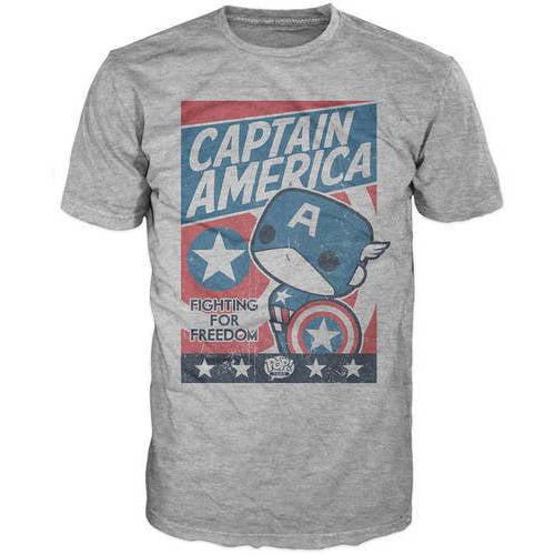 Marvel Men's Funko Pop Captain America Fight For Justice Tee