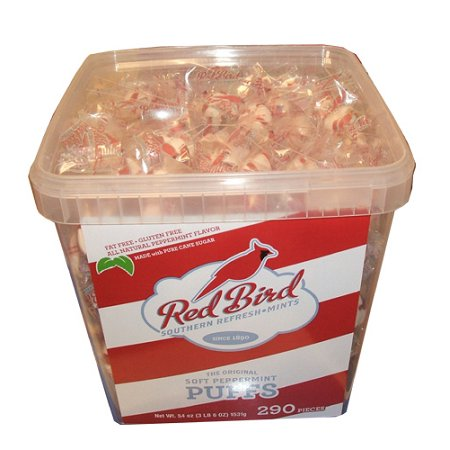 Red Bird Soft Peppermint Puff Tub, 290 Pieces (Peppermint Snaps)