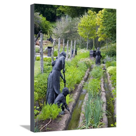 Pioneer Gardener Statue in Brigham Young Historic Park, Salt Lake City, Utah, USA Stretched Canvas Print Wall Art By Richard