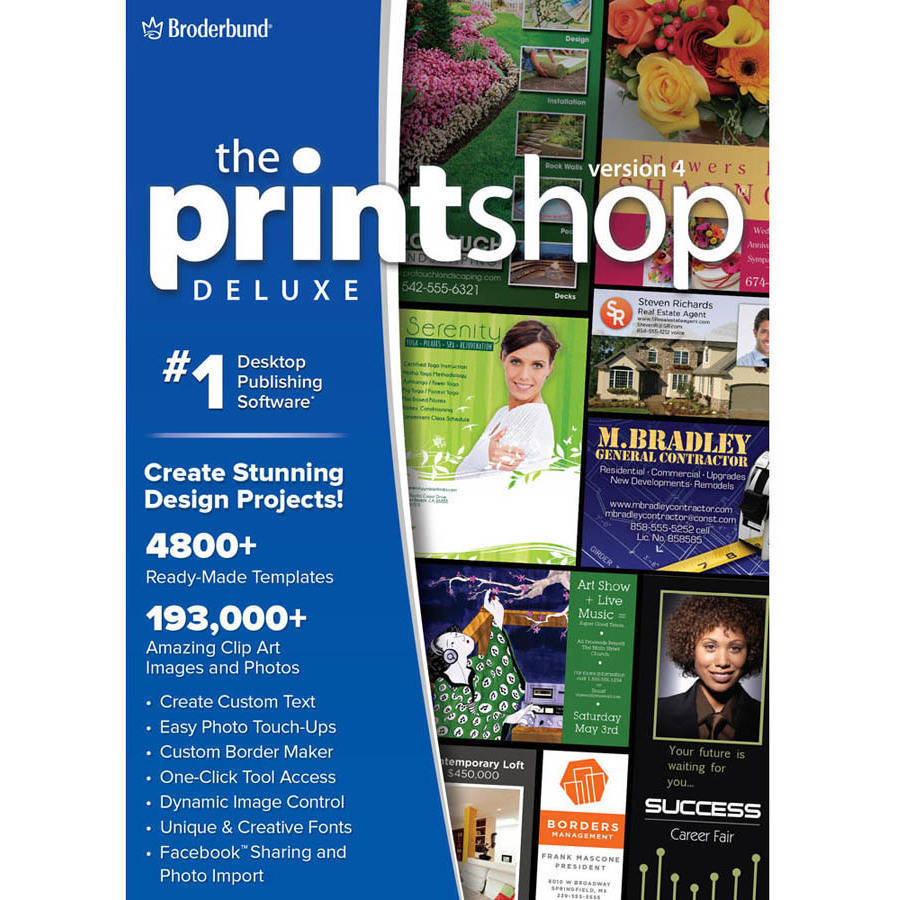 WD Encore 8129655 Print Shop 4.0 Deluxe for PC (Email Delivery) by Wd Encore
