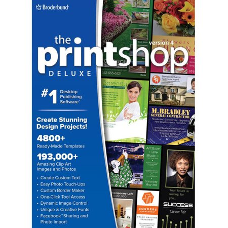 WD Encore 8129655 Print Shop 4.0 Deluxe for PC (Email (Green Print Software)