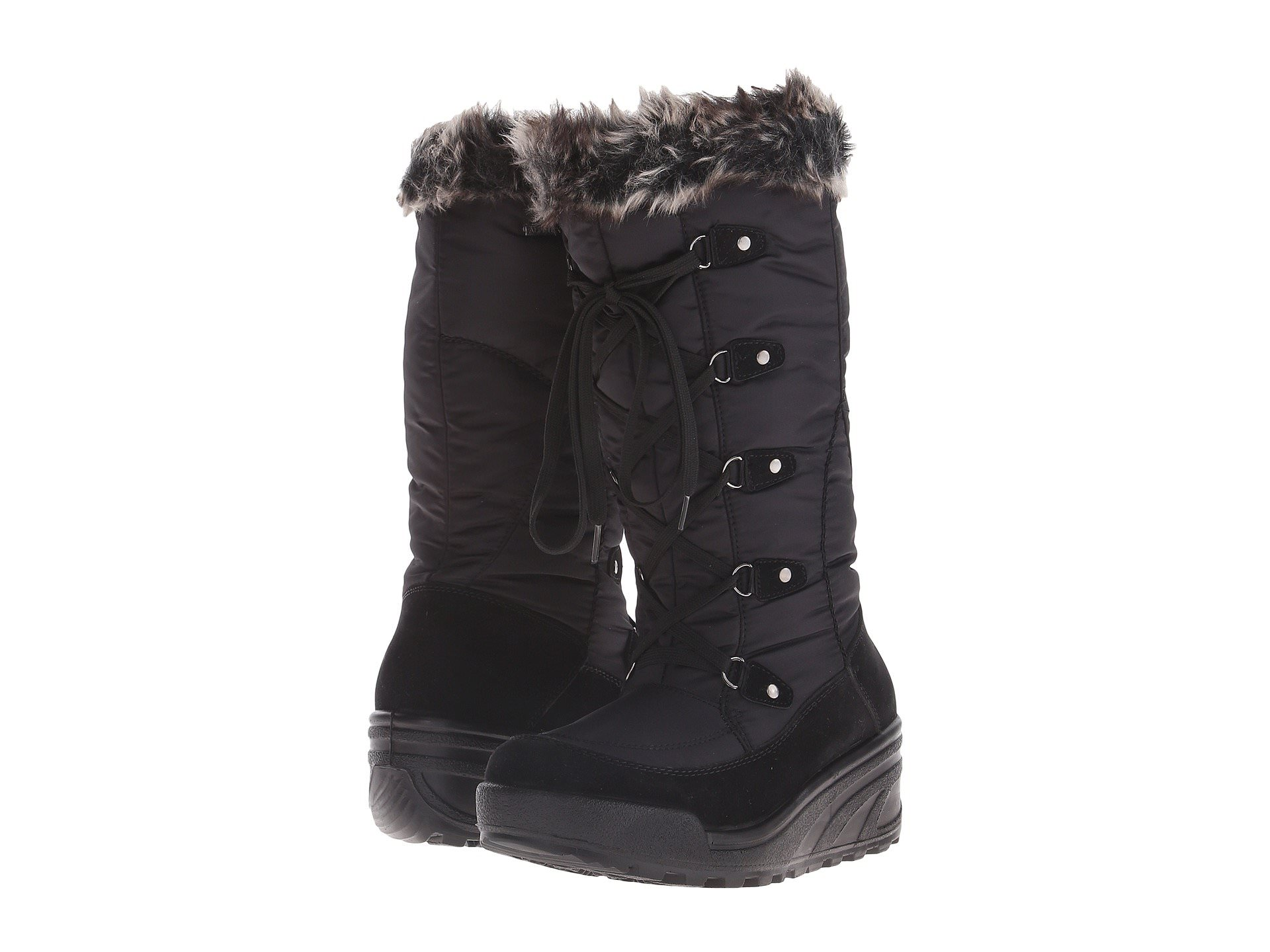 Spring Step NORTHRIDGE Womens Black Warm Winter Zip Up Snow Boots by Spring Step