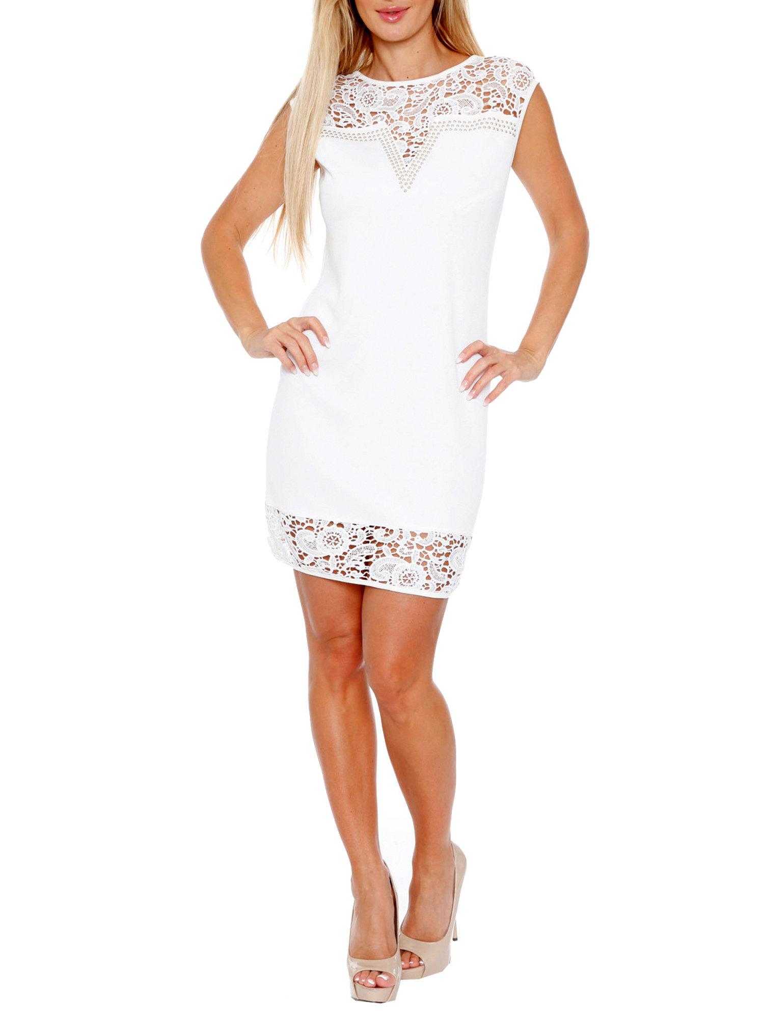 Women's Women's Lace Trim Mini Dress