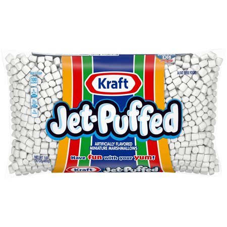 (4 Pack) Jet-Puffed Miniature Marshmallows, 16 oz Bag