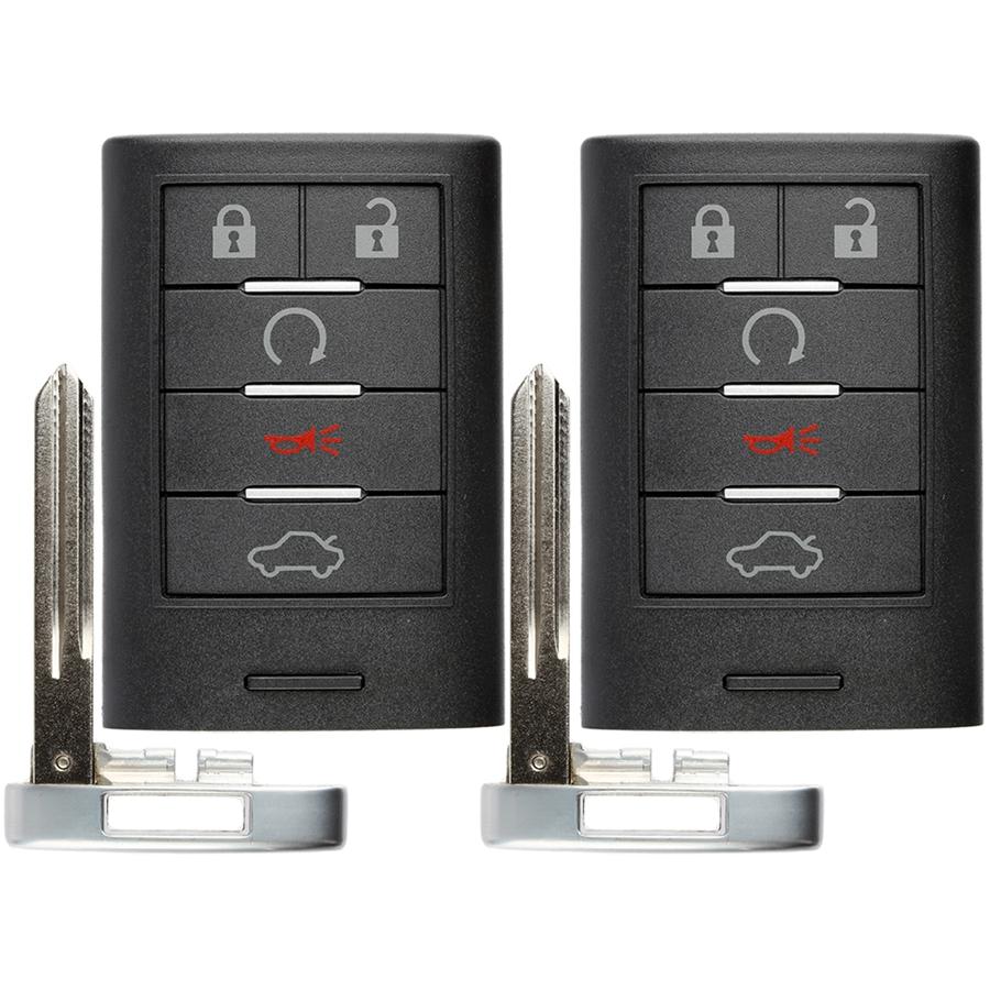 KeylessOption Keyless Entry Car Remote Smart Key Fob for Cadillac CTS STS M3N5WY7777A