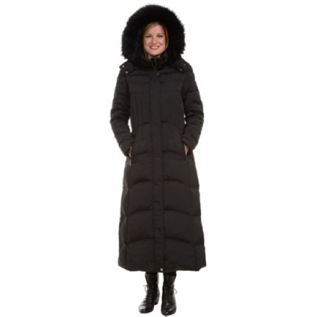 ae1674c265b4 1 Madison - 1 Madison Ladies Maxi Down Coat Detachable Faux Fur Hood  (Medium
