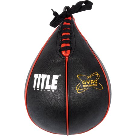Title Boxing Gyro Balanced Leather Punch Training Speed Bag - (Leather Lace Boxing)