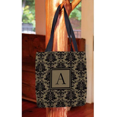 Damask Monogram Tote Bag (Thirty One Easy Breezy Tote Island Damask)