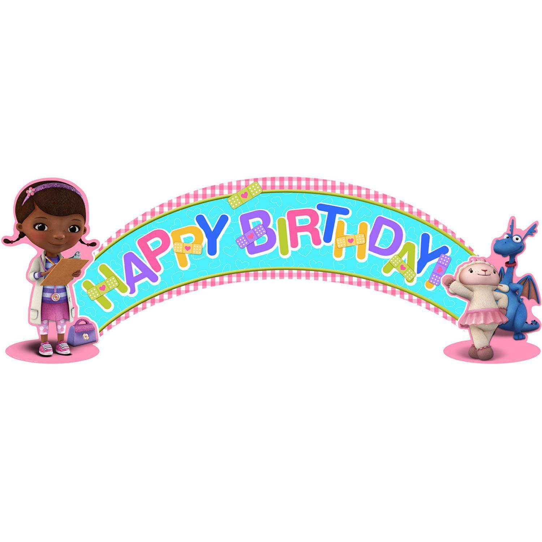 doc mcstuffins birthday Doc McStuffins Birthday Banner (5ft)   Walmart.com doc mcstuffins birthday