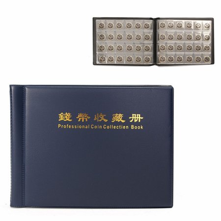 240 Coin Collectors Collecting Album Book Folder  Holders Collection Storage 10page Blue