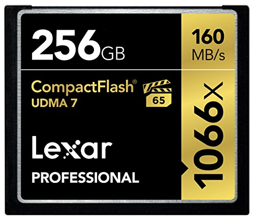 Lexar Professional 1066x 256GB VPG-65 CompactFlash card (Up to 160MB s Read) w Free IMage Rescue 5 Software LCF256CRBNA1 by Lexar