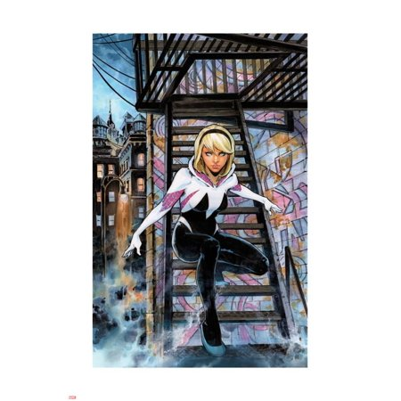 Spider-Gwen Annual #1 Variant Cover Picturing Gwen Stacy Poster Wall Art (Gwen Stacy Oscorp)