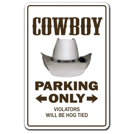 Cowboy novelty sticker | Indoor/Outdoor | Funny Home Décor for Garages, Living Rooms, Bedroom, Offices | SignMission Farm Western Gift Horses Gag Funny Rodeo Decal Wall Plaque Decoration