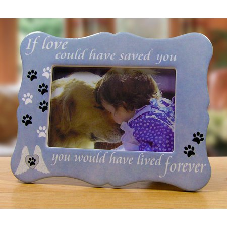 Pet Memorial Picture Frame - If Loved Could Have Saved You Saying Photo Frame Pen