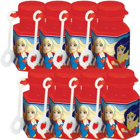DC Super Hero Girls Mini Bubbles / Favors (8ct) - Superhero Word Bubbles
