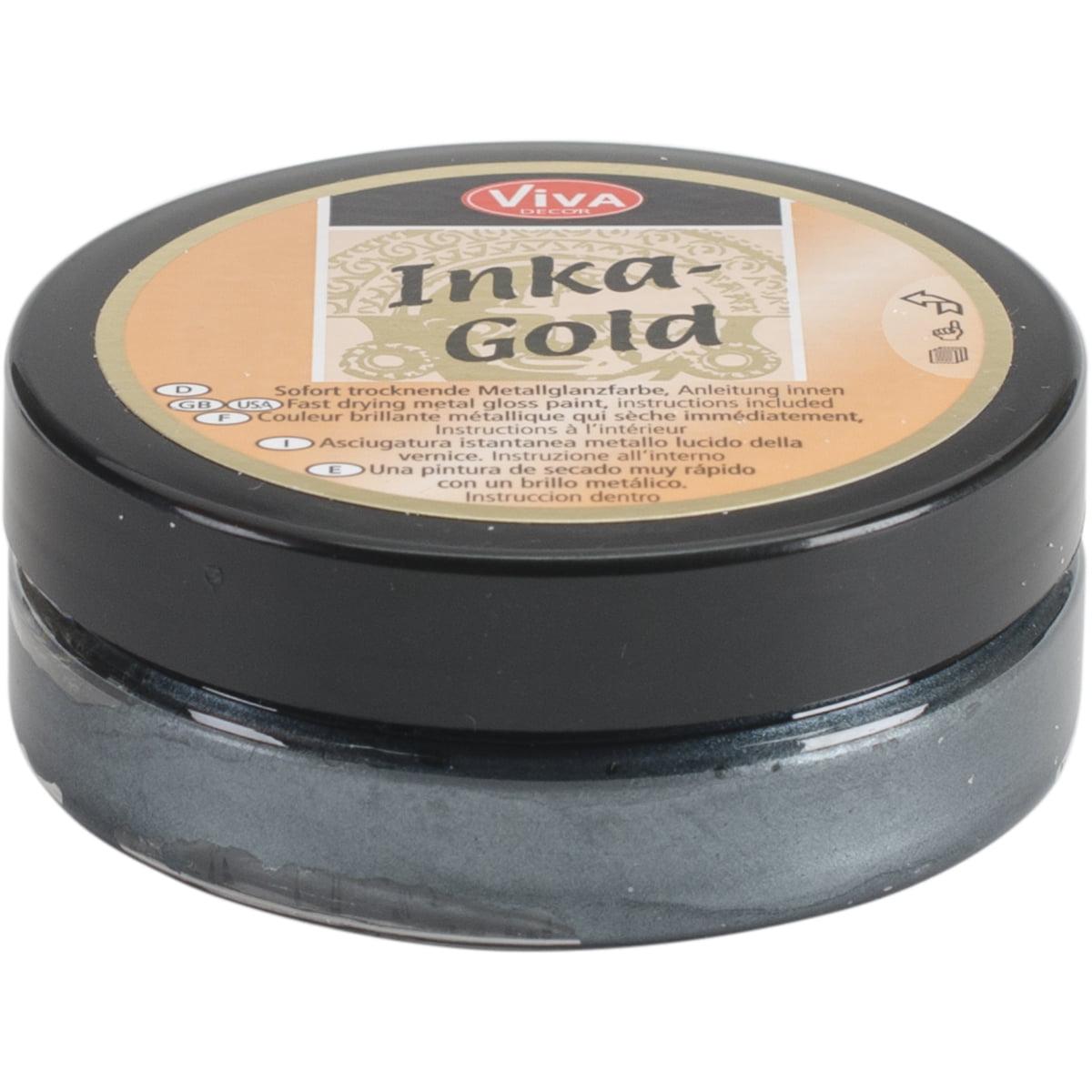 Viva Decor 62.5gm Inka Gold Metal Gloss Paint, Gold