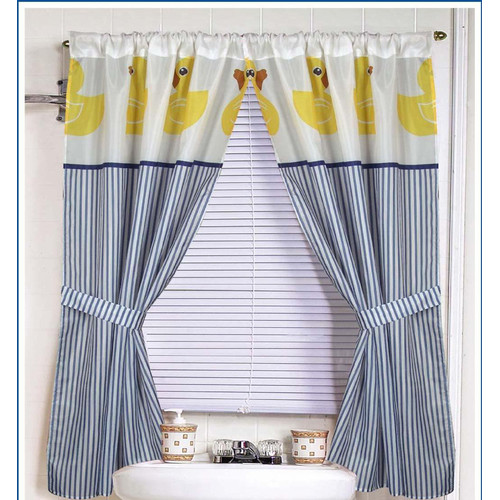 Ben and Jonah Ducky Curtain Panels (Set of 2)