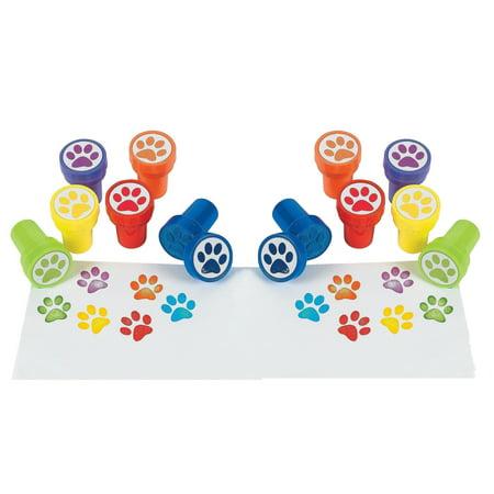 Animal Paw Print Stamper Stamps - Pack of 24 - Paw Print Stamp