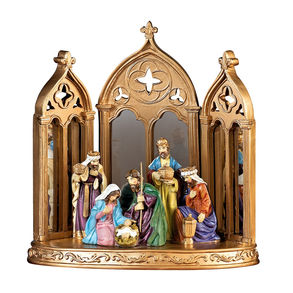 Mirrored Christmas Nativity Scene Decoration