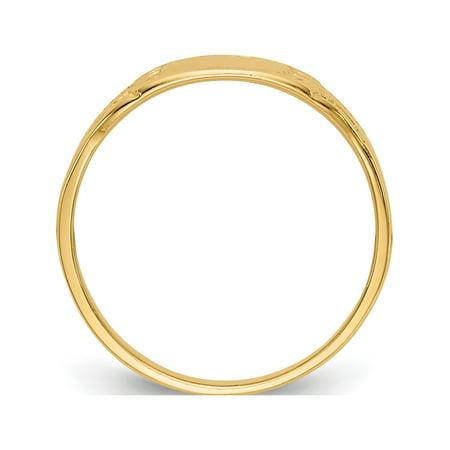 14k Yellow Gold Rectangular Baby Signet Ring - image 1 of 5