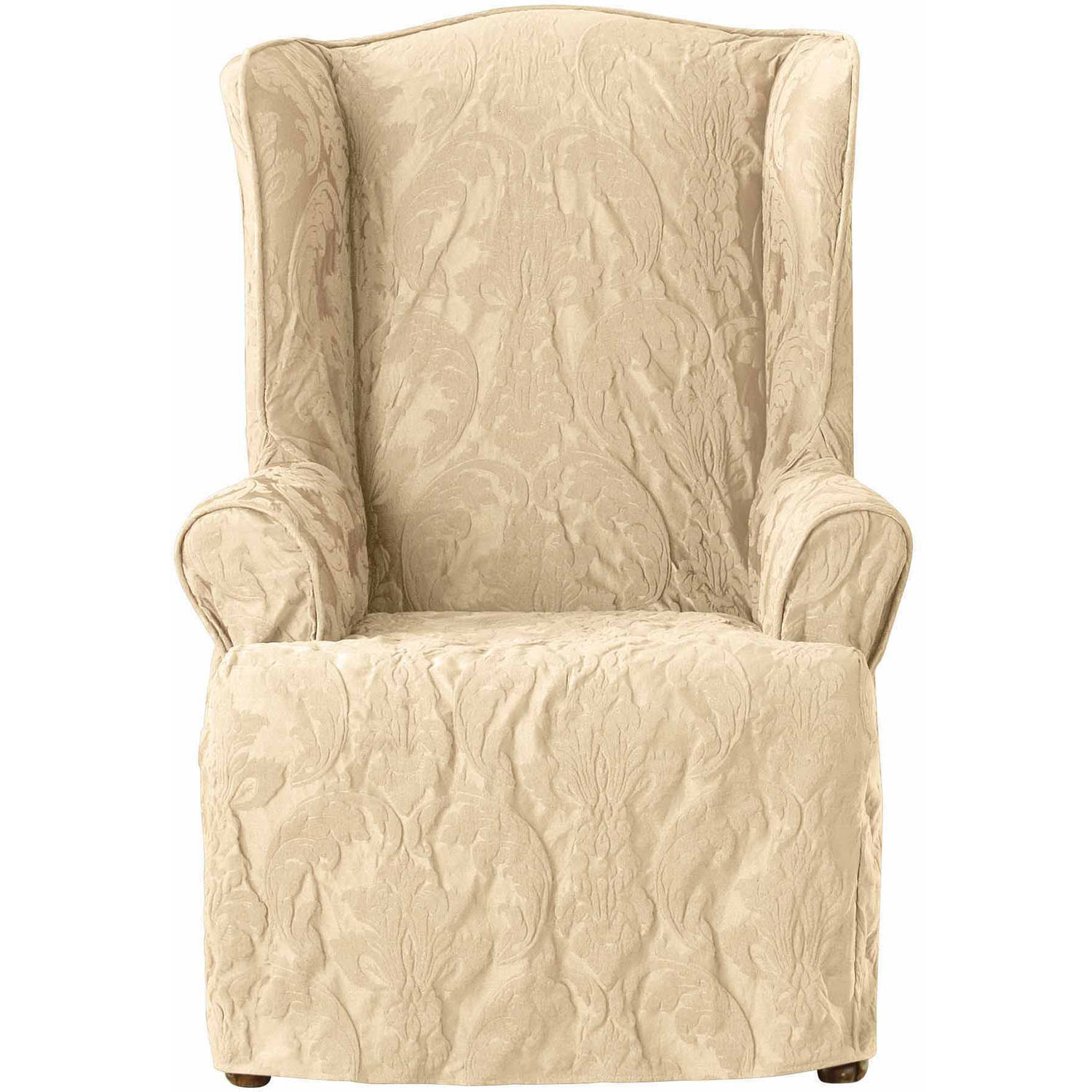 Sure Fit Cotton Duck Wing Chair Slipcover Amazing