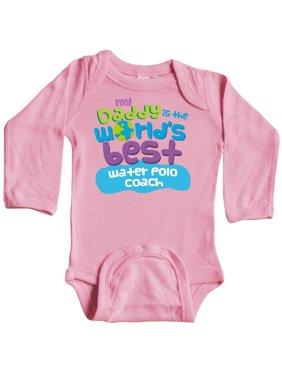 My Daddy is the World's Best Water Polo Coach Long Sleeve Creeper