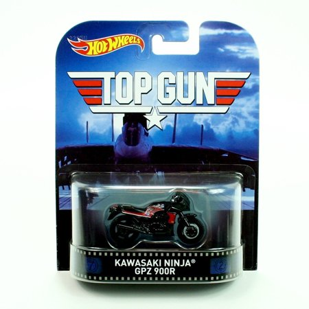 Hot Wheels 1:64 Scale Retro Entertainment Top Gun Kawasaki Ninja GPZ 900R ()