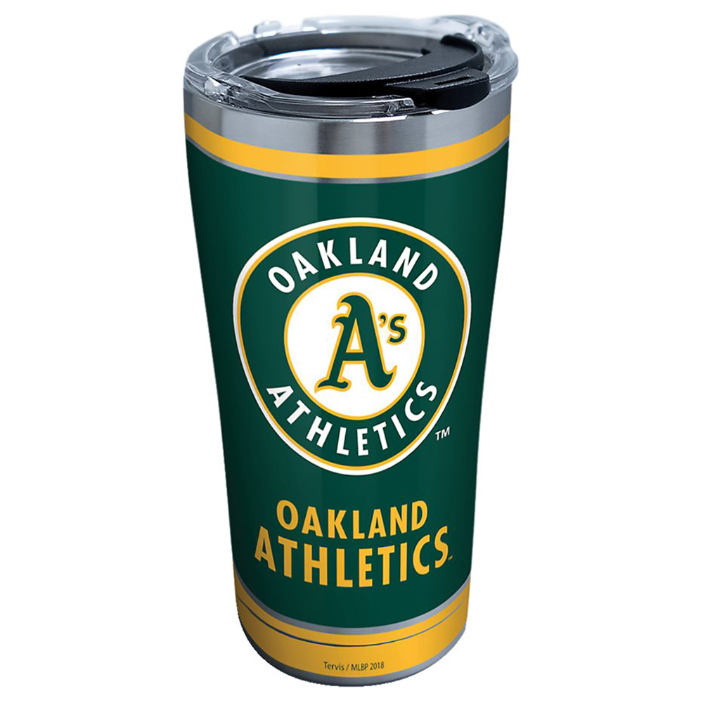Oakland Athletics Tervis 20oz. Stainless Steel Tumbler - No Size